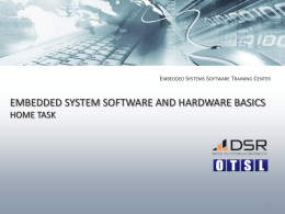 Embedded System Software Basics Home Task