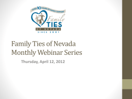 Family Ties of Nevada Monthly Webinar Series