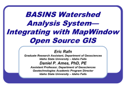 Going Open Source: Migrating EPA's BASINS to the …