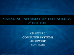 Ch 2 - Computer Systems