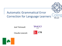 The Ins and Outs of Preposition Error Detection in ESL …