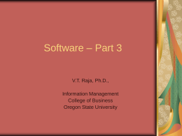 Software – Part 3 - Oregon State University