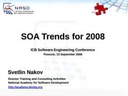 SOA Trends - 2008