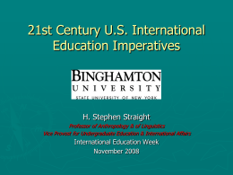 21st Century US International Educ Imperatives