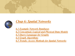 Spatial Networks - University of Minnesota
