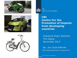 Dia 1 - CBI - Centre for the Promotion of Imports from