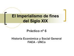 El Imperialismo de fines del Siglo XIX