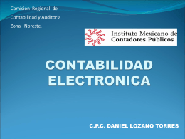 CONTABILIDAD ELECTRONICA - Instituto Mexicano de