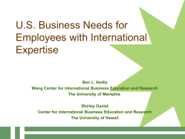 U.S. Business Needs for employees with International …