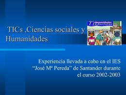 Las TIC en las ciencias sociales y humanidades