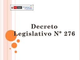 Decreto Legislativo 276
