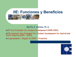 Beneficios del IIE International