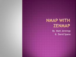 nmap with Zenmap