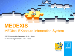 Medexis slide pack EN - Cefic | European Chemical Industry