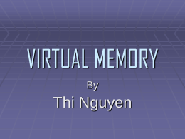 VIRTUAL MEMORY - SJSU Computer Science Department