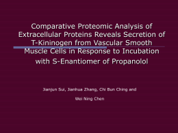 Comparative Proteomic Analysis of Extracellular Proteins