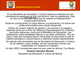 Diapositiva 1 - Secretaria de Educacion Departamental