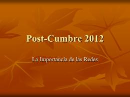 Post-Cumbre 2012