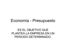 Economia - Presupuesto