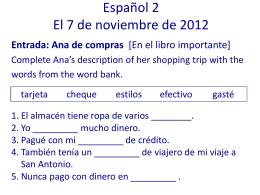Spanish 1– 8/27