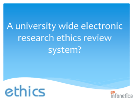 Research Ethics Database (RED) and Online Form System