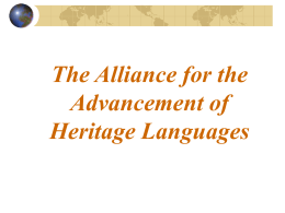 Alliance for the Advancement of Heritage Languages
