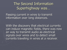 The First Information Superhighway was…