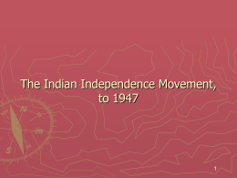 Chapter 30 Striving for Independence: Africa, India, and