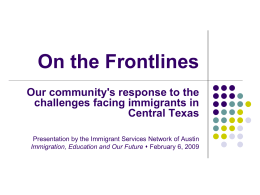 ISNA Presentation to BNC - Austin Community College