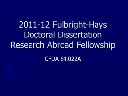 2005 Fulbright Hays Doctoral Dissertation Research …