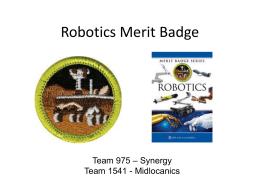Robotics Merit Badge