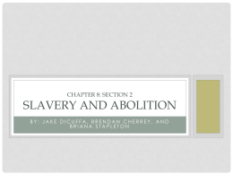 Slavery and Abolition - Westwood Regional School District