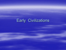 Early Civilizations - Lockport City School District / Overview
