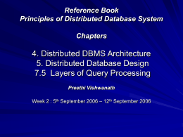Principles of Distributed Database System 4. Distributed