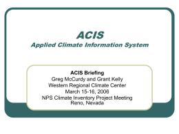 ACIS - Western Regional Climate Center
