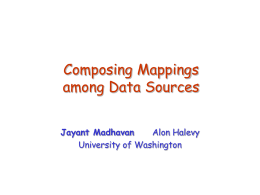 Composing Mappings among Data Sources