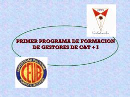 GESTION DE PROYECTOS DE INVESTIGACION EN LA UMSA