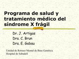 Protocolo asistencial para el sindrome X