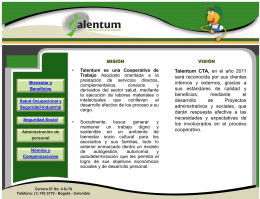 Diapositiva 1 - Talentum - Cooperativa de trabajo asociado