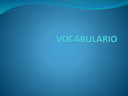 VOCABULARIO - INTEF