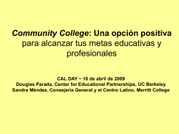 Community College: A Positive Pathway to Advancing …