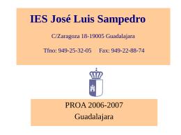 IES JOSE LUIS SAMPEDRO