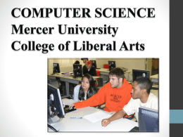 COMPUTER SCIENCE at Mercer University