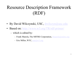 Resource Description Framework (RDF) and the Semantic …