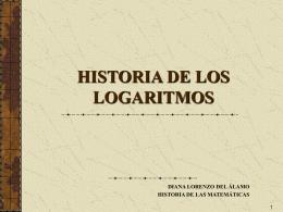 HISTORIA DE LOS LOGARITMOS