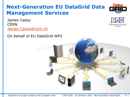 Next-Generation EU DataGrid Data Management Services