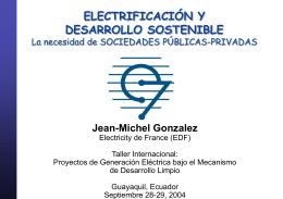 Electrificacion y desarrollo sostenible