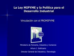 Plan de Desarrollo Industrial de Nicaragua