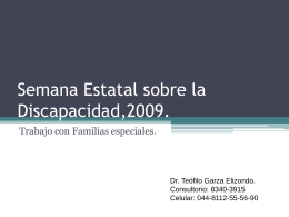 Semana Estatal sobre la Discapacidad,2009.