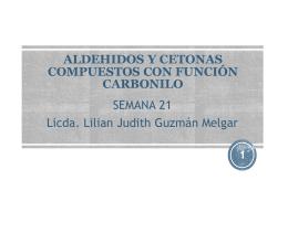 COMPUESTOS CARBONILOS ALDEHIDOS Y CETONAS